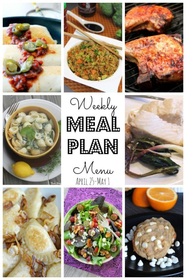 Weekly Meal Plan (April 24 - May 1) by Foodtastic Mom