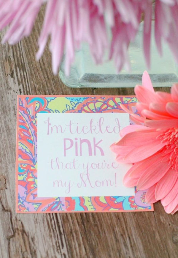 Tickled Pink Mother's Day Gift by Foodtastic Mom #FreePrintable