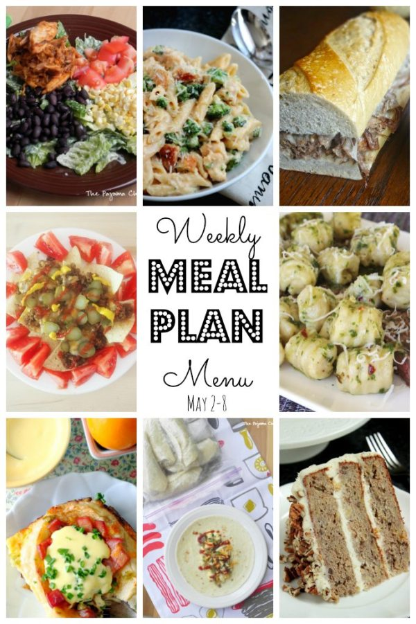 Weekly Meal Plan (May 2 - 8) by Foodtastic Mom