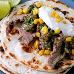 Pineapple Marinated Steak Tacos with Chimichurri Sauce