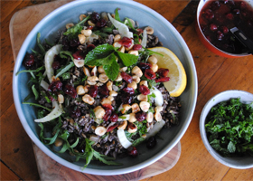 Wild rice salad with roasted hazelnuts thumbnail 1