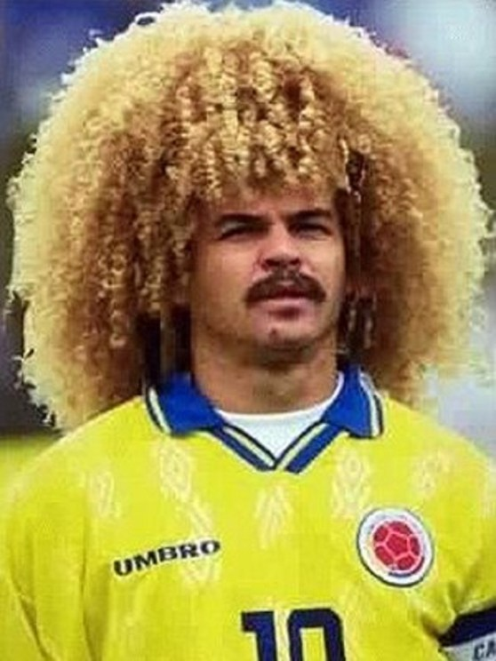 Carlos Valderrama had the best Afro of any footballer. It was wild and bright, and he just let it happen.