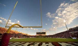 09/14/2013: A view of Aggie Memorial Stadium during a football game. (photo by Darren Phillips)