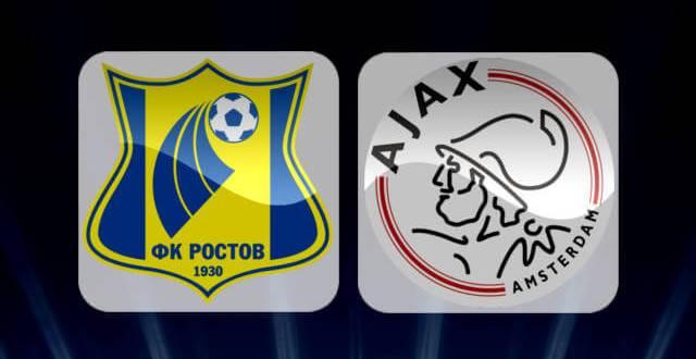 Rostov Vs Ajax UEFA Champions League Play-Offs