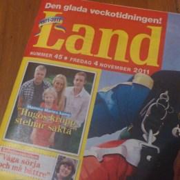 2011. Hugo, Marie, Pelle & Kazper i tidningen Land.