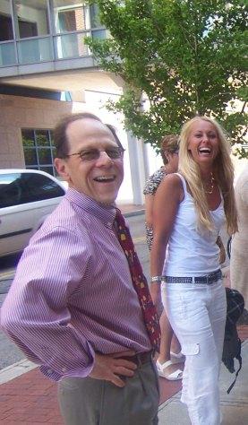 Dr Fred Kaplan & Jag utanför FOP labbet i Philadelhia 2009