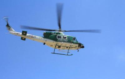 Incendi, elicottero del Corpo forestale