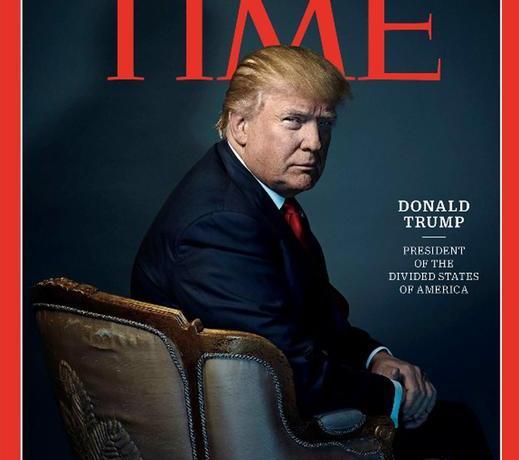 La copertina del Time dedicata a Donald Trump 'Persone dell'anno' 2016. Roma, 7 dicembre 2016. ANSA/ TIME +++ NO SALES - EDITORIAL USE ONLY +++