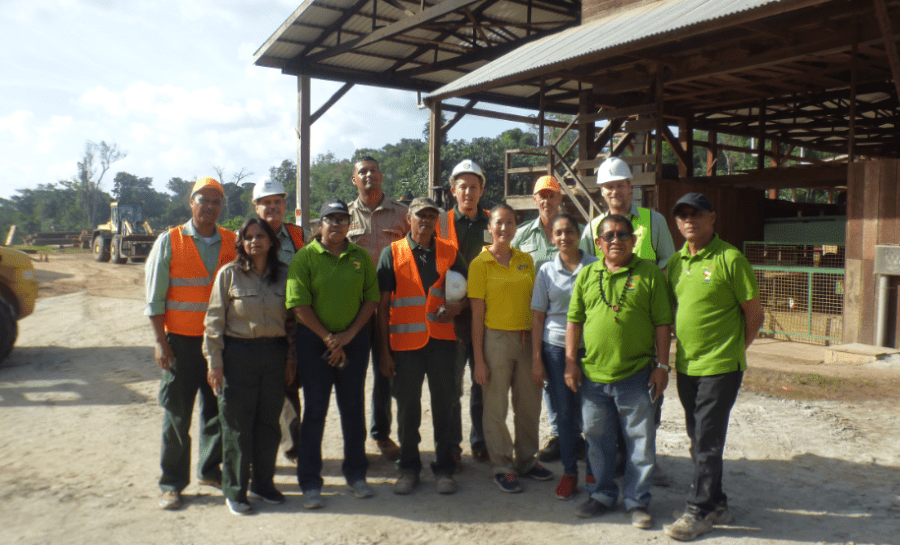 Guyana and Suriname REDD+ delegation at Dennebos Sawmill, Brokopondo District