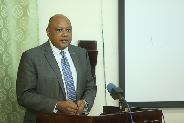 Minister of Natural Resources Raphael Trotman.