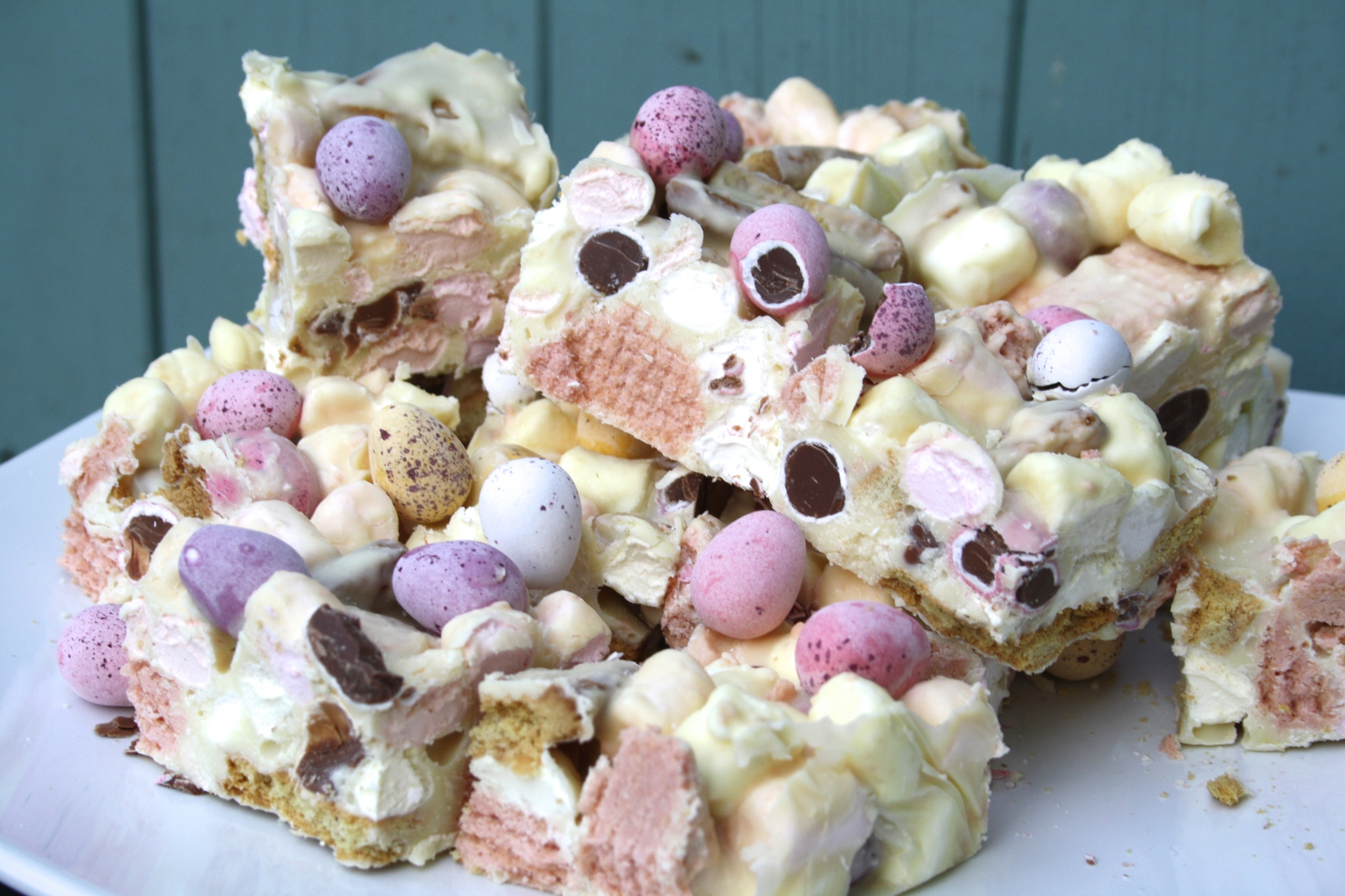 ... , easy and rewarding it is to make these colourful rocky road bites