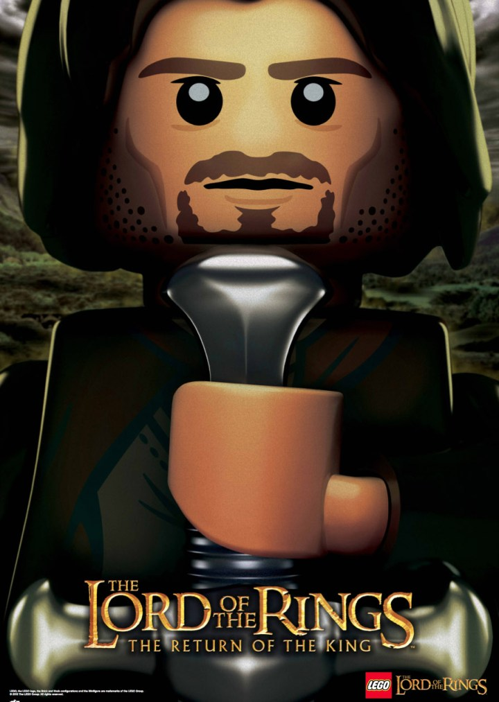 legolotr aragorn Gamescom 2012: Check out the Blockier Side of Middle Earth with the Lego Lord of the Rings Trailer