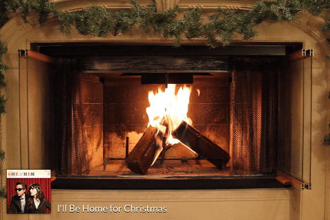 A Very She & Him Christmas Yule Log