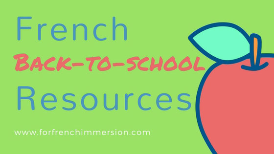 "French Back-to-school Resources: blog post with links to tons of FREE printables, videos for ""la rentrée scolaire"", and much more!"