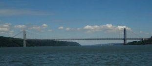 George Washington Bridge crossing Hudson River
