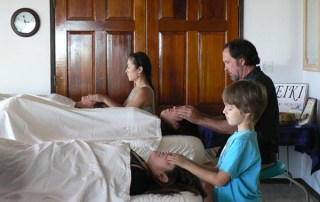 Shalandra Abbey's First Degree Maui Class with 10-year-old Keanu. Abbey said, 'Keiki Reiki Students are awesome to teach, because they know right away what is good for them and what isn't. Adults learn so much from being in a class with them.'