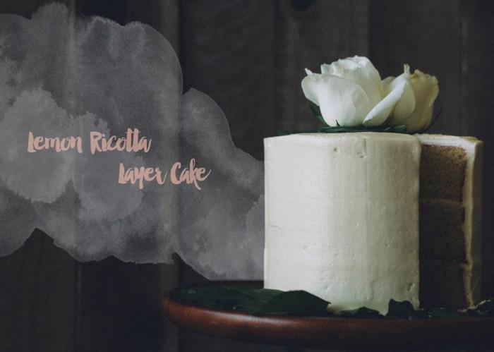lemon ricotta layer cake fork to belly