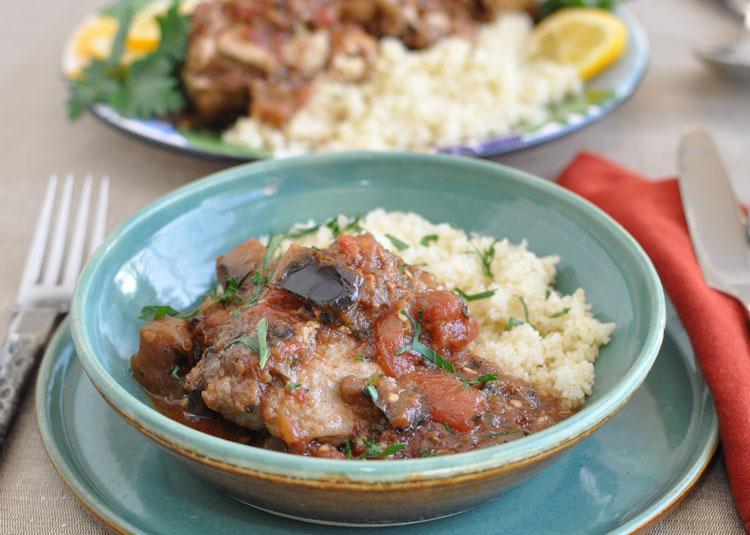 Chicken with Eggplant Tomato Jam