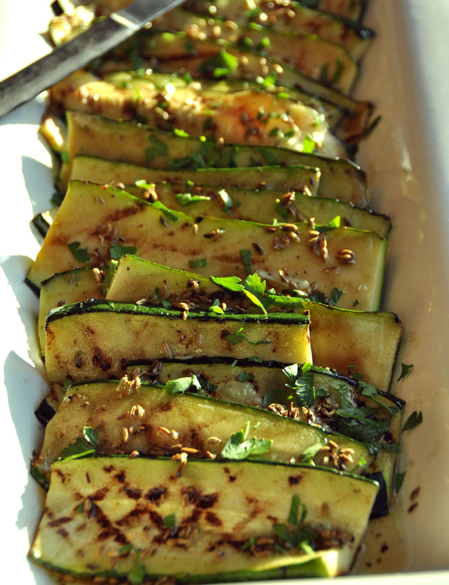 Zucchini with Toasted Fennel Seed Vinaigrette