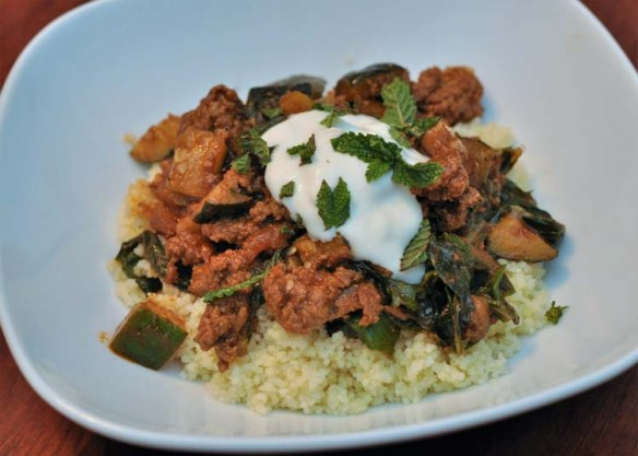 Blue Apron Spiced Lamb and Beef Tagine