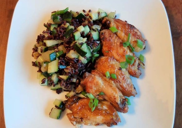 Blue Apron Miso Glazed Chicken Wings