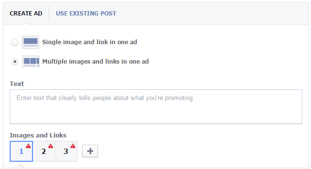 facebook multiple image carousel ad selection