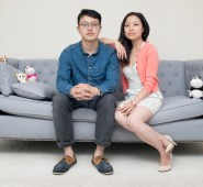 Maolin Liao and Lin Sun. They came to Scotland from Langzhong, Sichuan in China to study. I photographed them in their flat in Aberdeen.