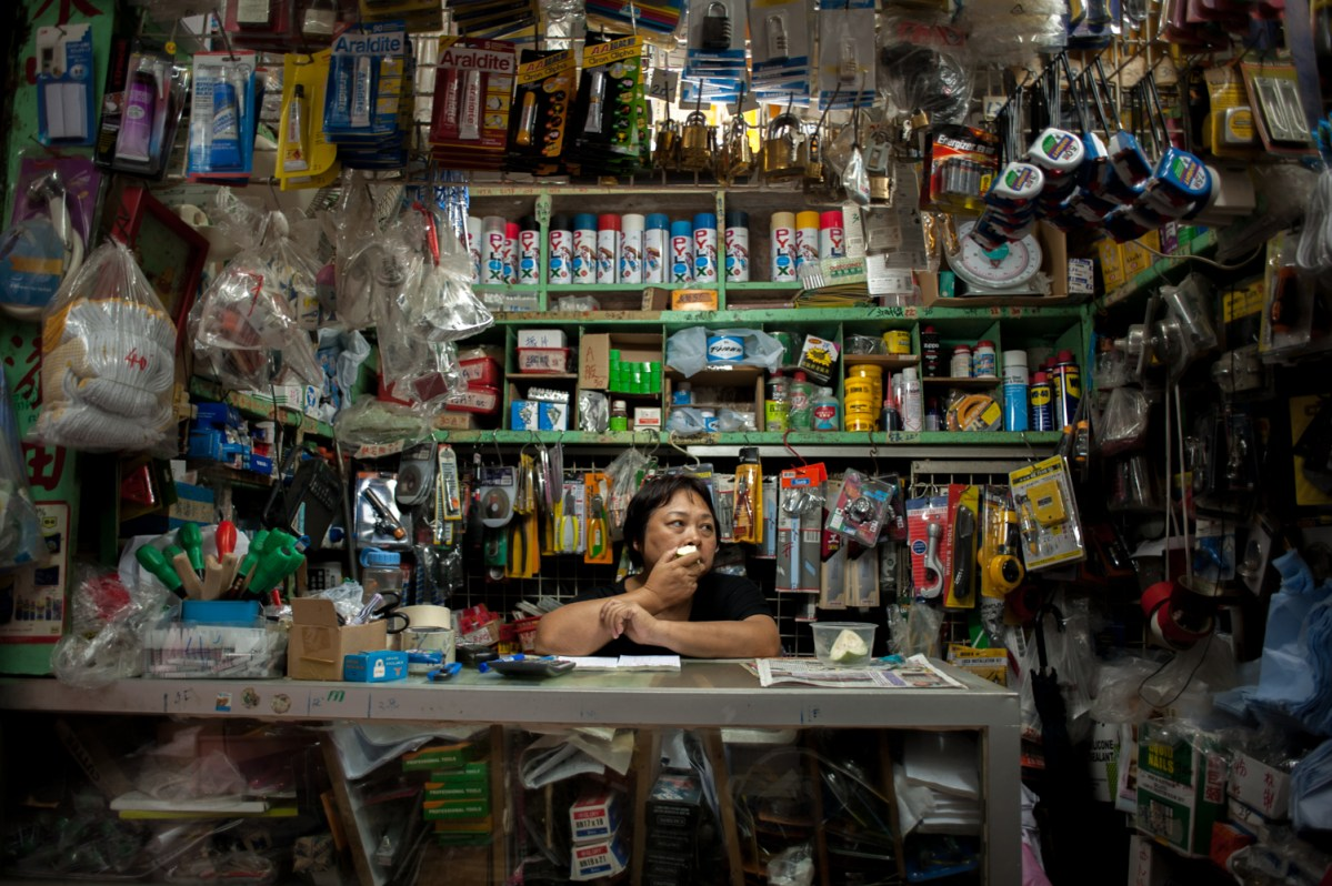 Ann Chang, owner of a hardware store in an alleyway behind Chungking Mansions said that last year, her rent doubled from HK$15,000 to HK33, 000 (£2,700), mirroring a trend seen all over Hong Kong.