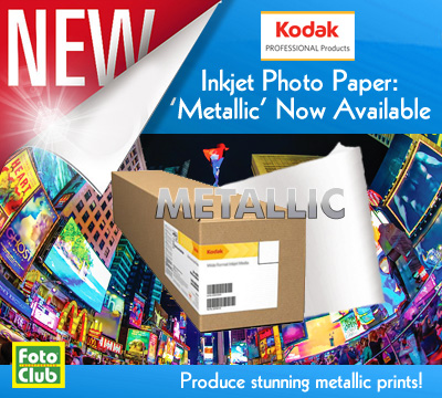 kodak metallic paper Kodak metallic inkjet paper displays similar characteristics as the popular lab paper, kodak endura kodak's inkjet metallic paper has a high dmax and wide color.