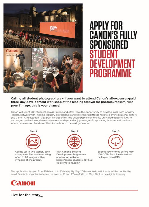 Program studencki Canon na Visa pour l'image