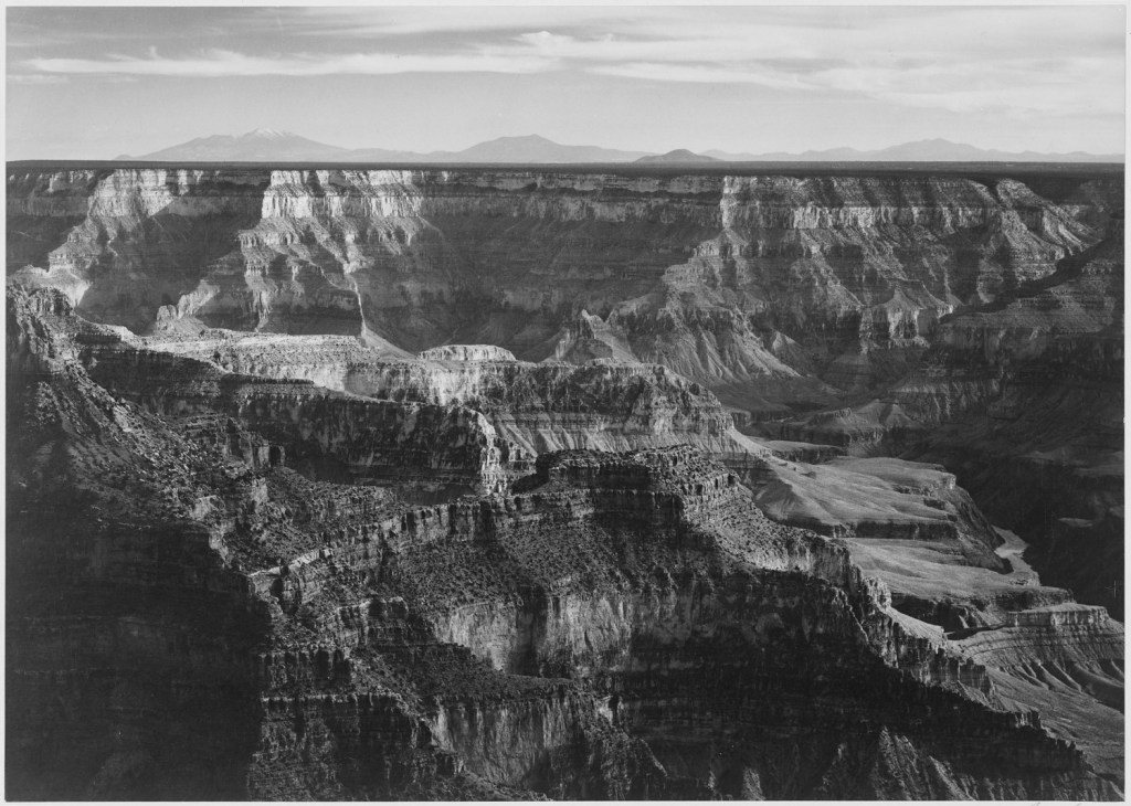 Ansel Adams,broad-view-with-detail-of-canyon-horizon-and-mountains-above-grand-canyon-national-park-arizona_1500x