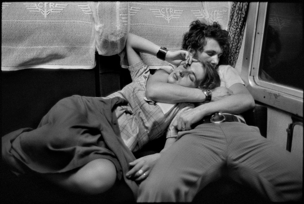 ROMANIA. In a train. 1975.