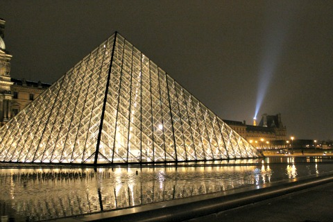 Louvre Paris at Night