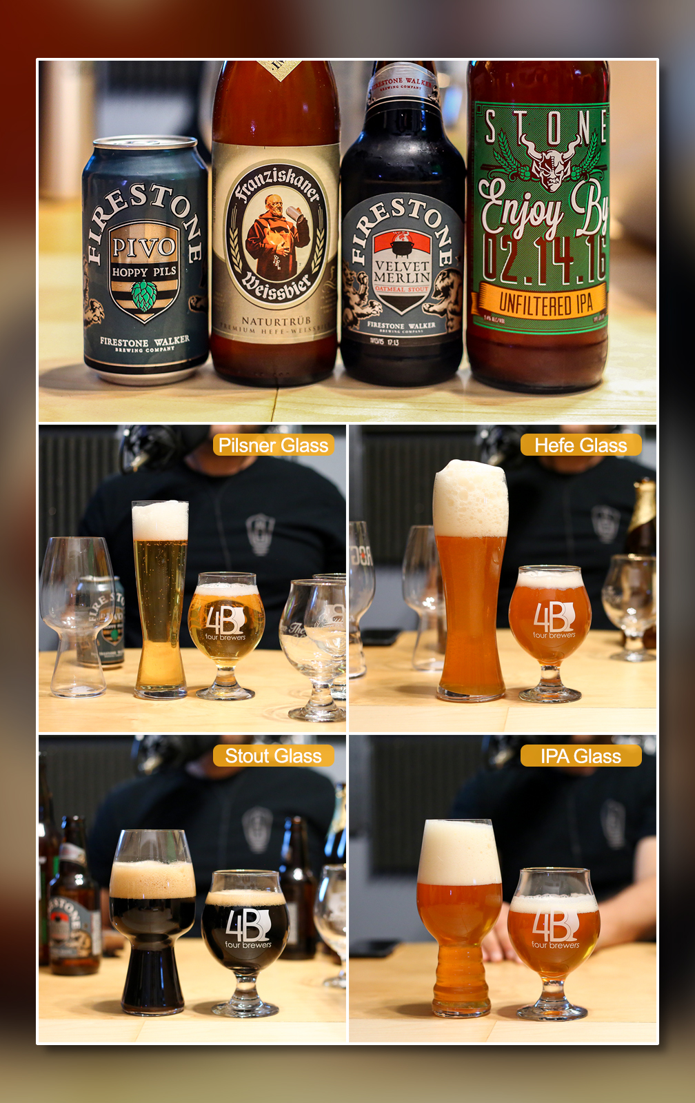 Style-Specific Beer Glassware