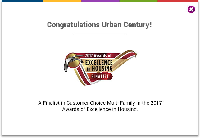 Crban Century - A Finalist in Customer Choice Multi-Family in the 2017 Awards of Excellence in Housing