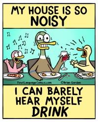 hear myself drink