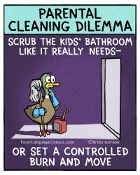 parental cleaning dilemma