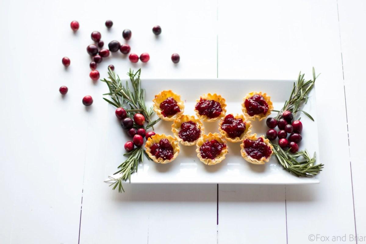 Cranberry Brie Mini Tarts