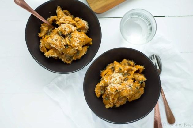 Pumpkin, Gruyere and Goat Cheese Mac and Cheese -