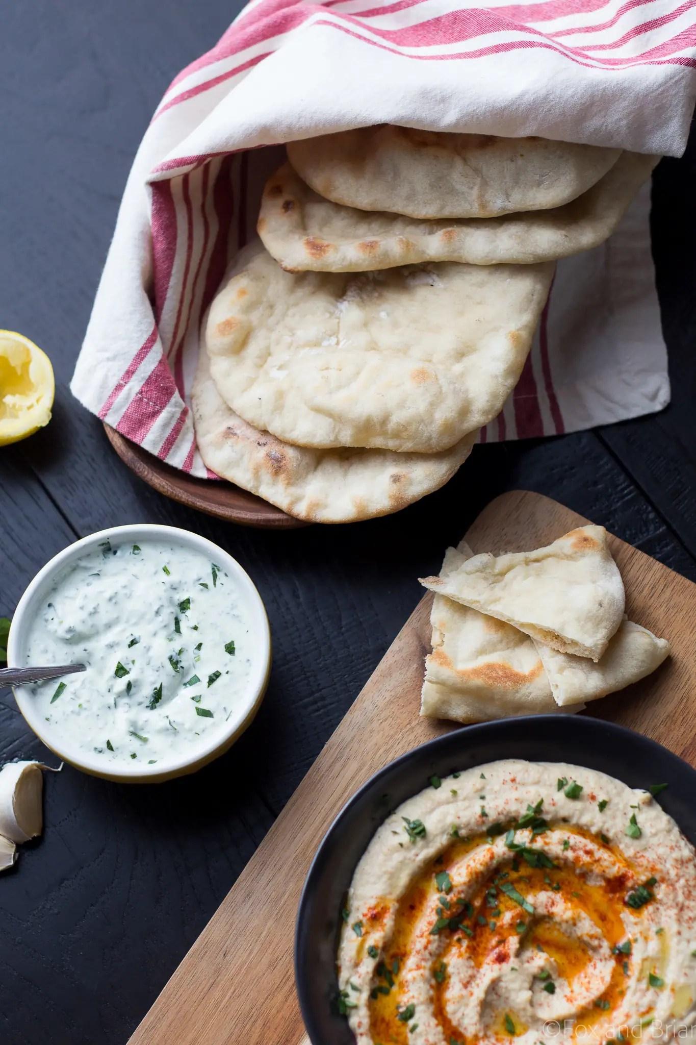 Homemade Pita Bread - Fox and Briar