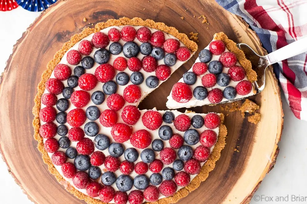 Red, White and Blueberry Tart