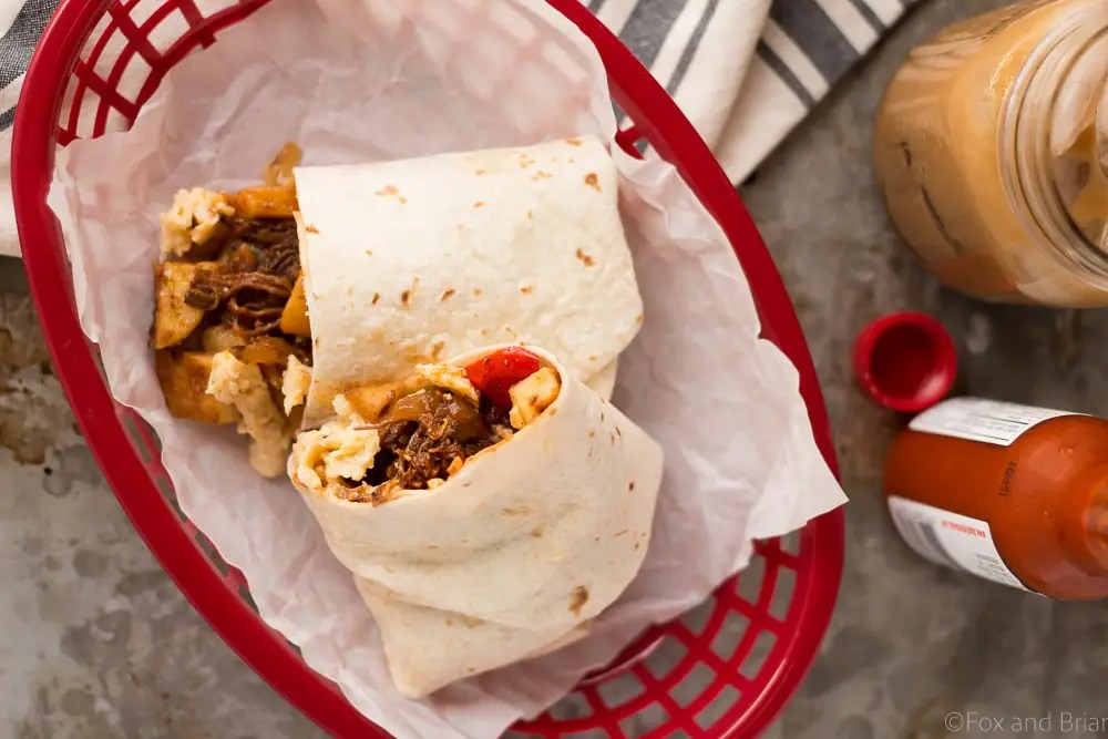 Make Ahead Beef Breakfast Burritos (Freezer Friendly!)