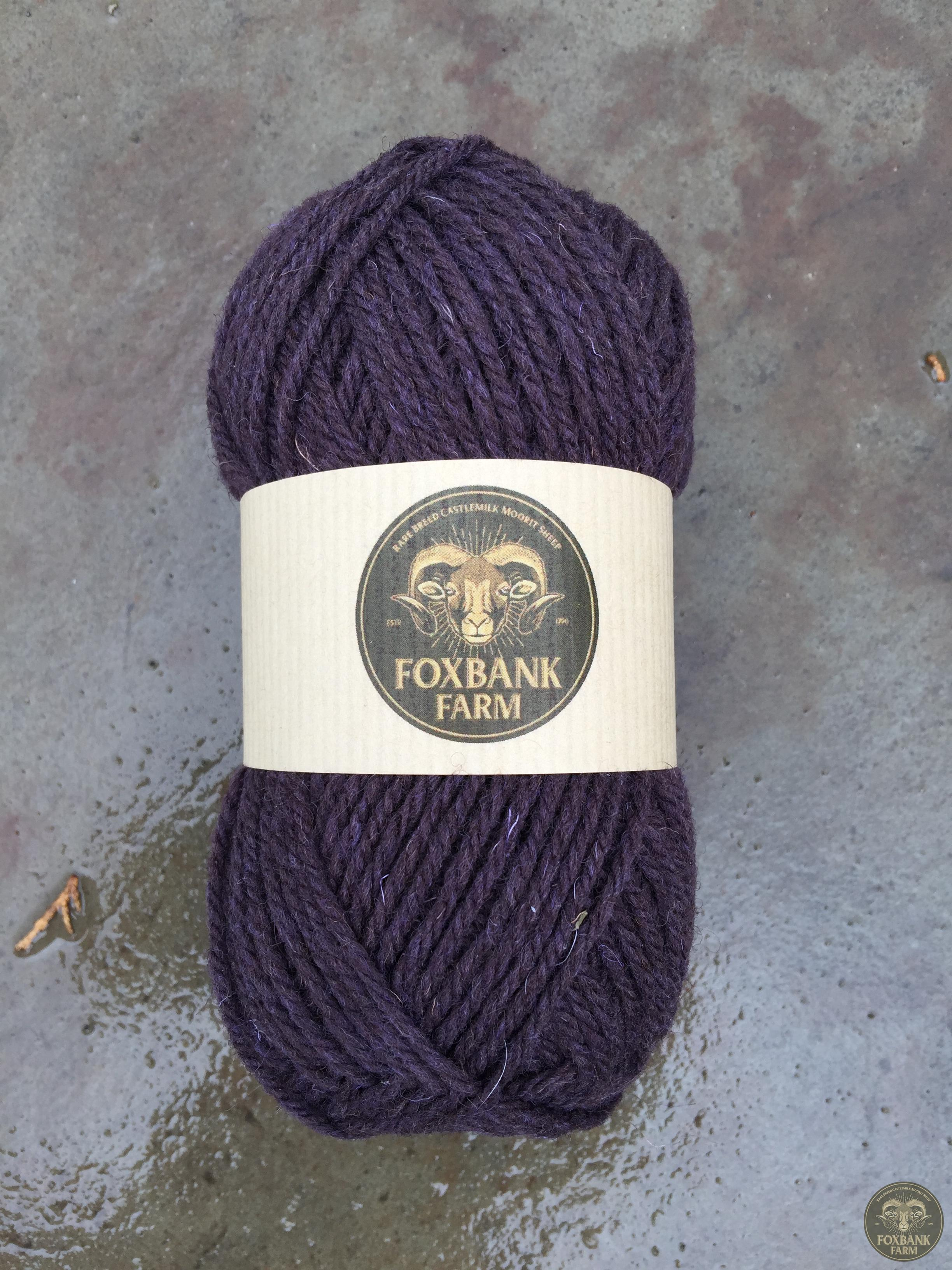 100% castlemilk moorit fibre purple plum foxbankfarm.co.uk