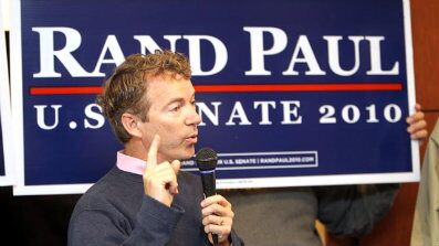 FILE: Sen.-elect Rand Paul, R-Ky., speaks at a campaign stop at International Airport in Boone County, Ky., on Nov. 1.