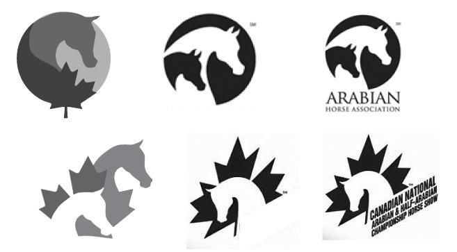 CAHR Logo Process - Similar Logos