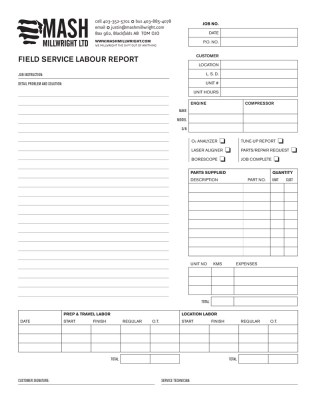 Foxtail studio graphic design studio saskatoon sk for Technical service report template