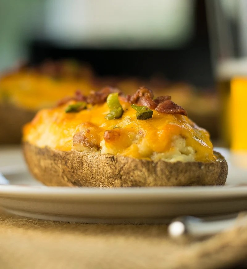 Jalapeno Popper Twice Baked Potatoes - Fox Valley Foodie