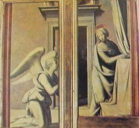 Annunciazione: Fra Bartolomeo 1495, Uffizi di Firenze