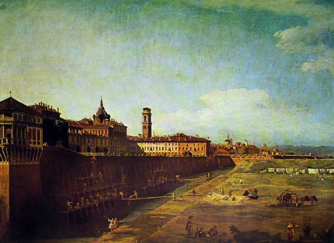 Bellotto: Torino - il palazzo reale da ovest