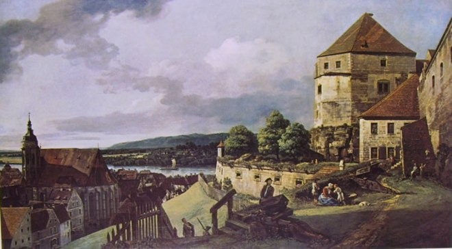 Bellotto: Pirna - la città e l'Elba dalla Fortezza di Sonnenstein